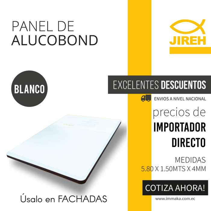 Panel de Aluminio Compuesto Verde Alucobond en Quito, Policarbonato, Acrilico, Cielo raso PVC, Fachadas