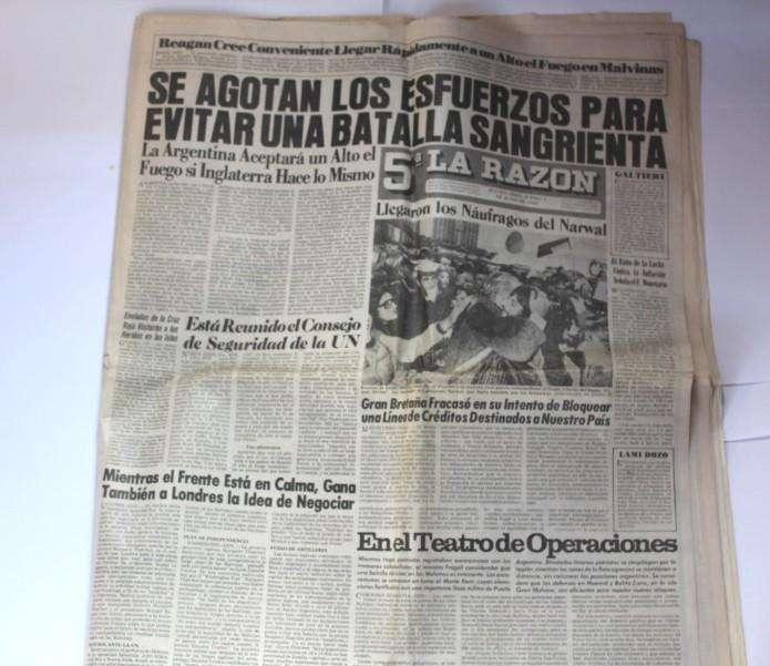 Histórico diario La Razón de la Guerra de Malvinas, 100
