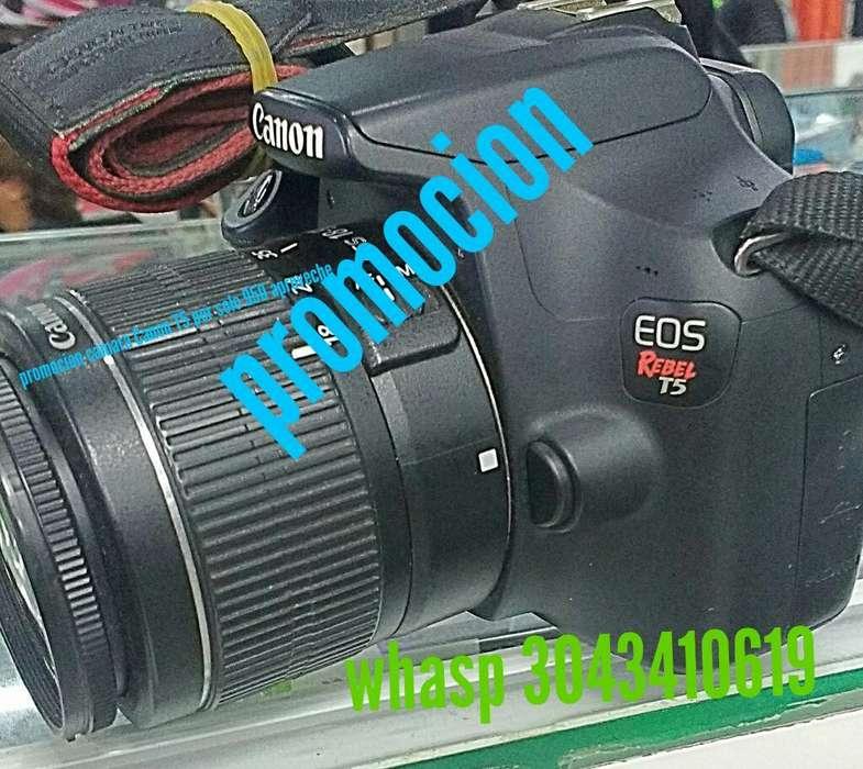 Camara T5 Canon con Lente 18 55