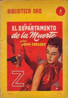 Libro: El Departamento de la Muerte, de John Creasey [novela de espionaje]