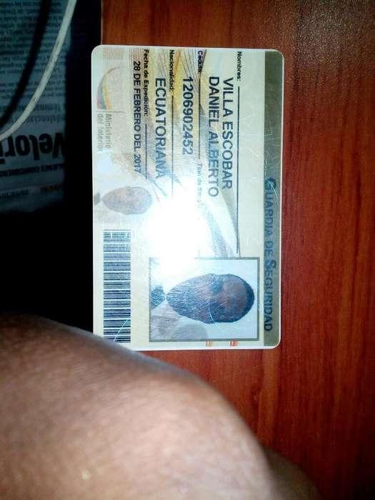 Busco Trabajo.de Guardia con Credencial