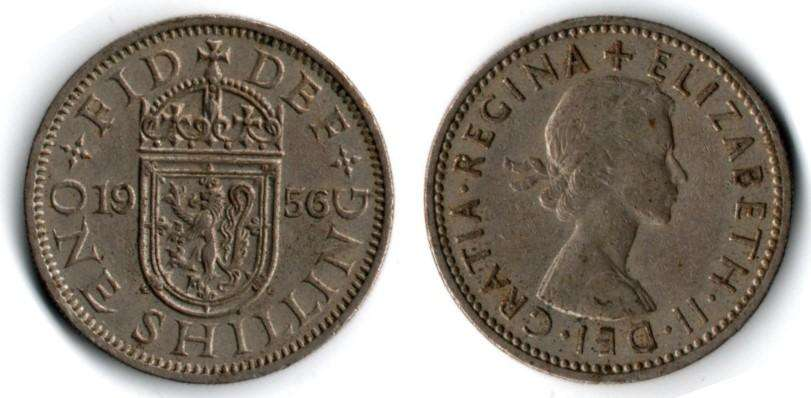 ESCOCIA. MONEDA. 1 CHELIN. 1956. KM 905. 42,9 M UNIDADES. ESTADO 7 DE 10. VALOR 29100. 33600 EN CATALOGO