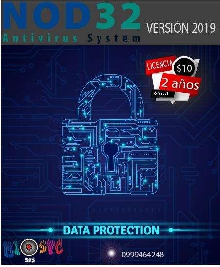Antivirus con Licencia Original para dos años ESET NOD32
