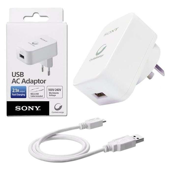 OFERTA! Cargador Sony Cable Usb Ac/ Cpad2carga Rapida 2.1a 100/240