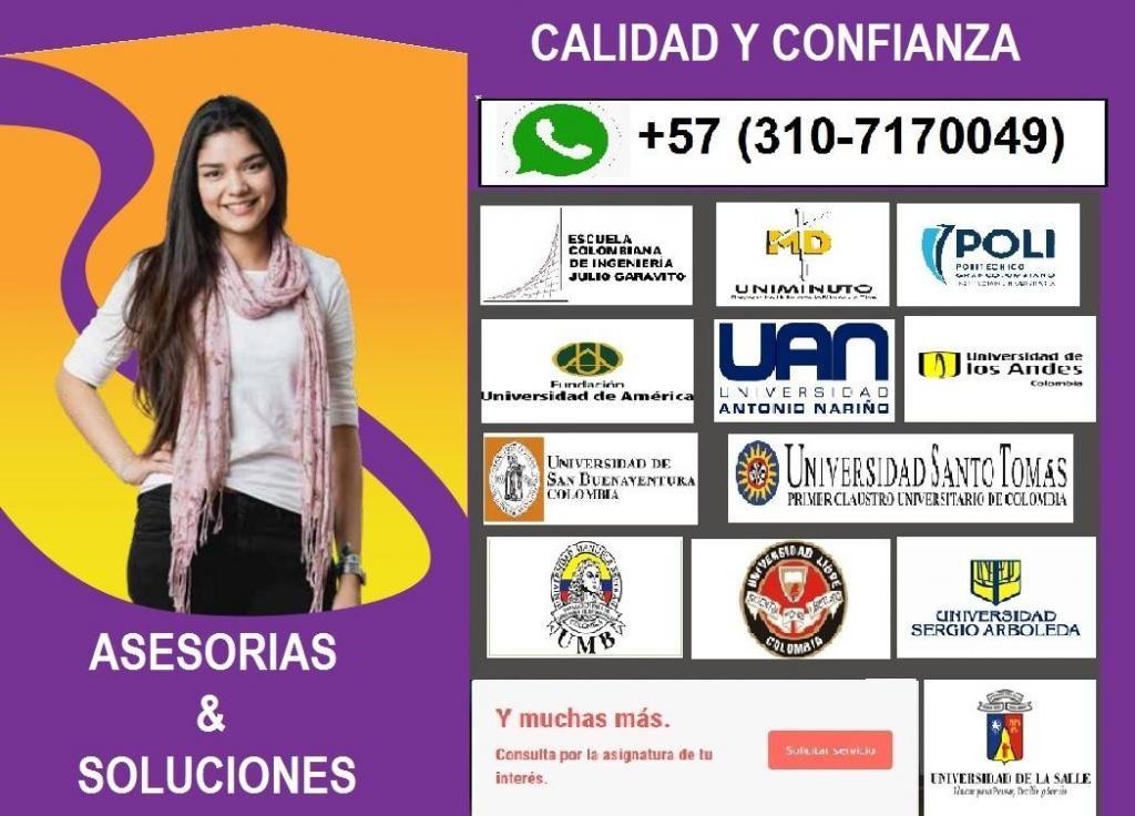 Asesorias de Parciales En Ciencias Básicas (Solucionados via whatsapp)