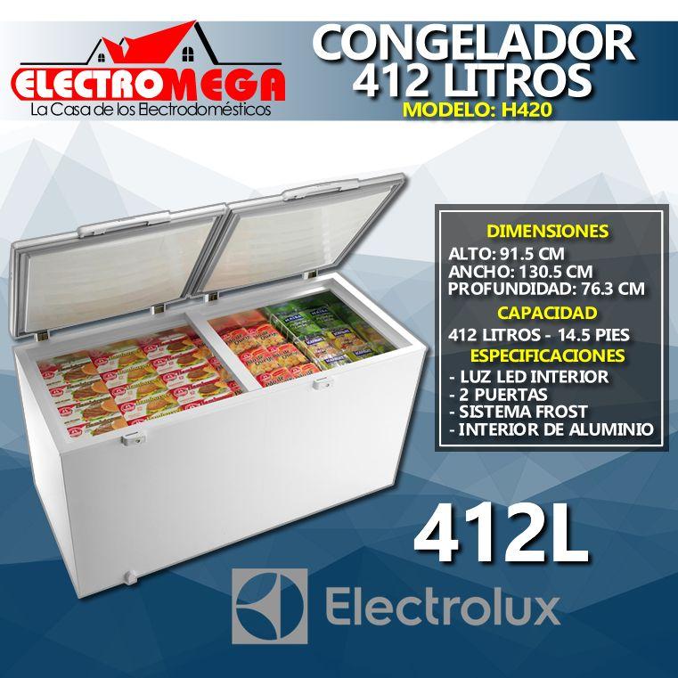 Congelador Horizontal Electrolux 412 Litros 2 Puertas Metalicas