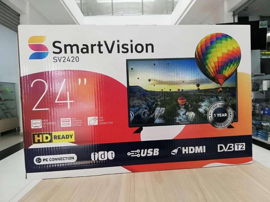Televisor Y Monitor Led Hd de 24 Pulgada