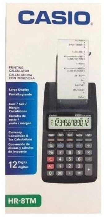 Calculadora con impresora Casio HR-8TM