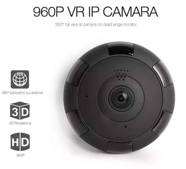 Camara Ip Panoramica Ojo De Pez 360 Inalambrica V.nocturna
