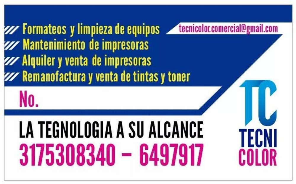 Servicio Tecnico Impresoras Y Pcs, Tinta