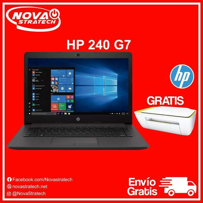 Laptop Hp 240 G7 Super Rapida Nueva con Impresora Hp Multifuncion Gratis Envios