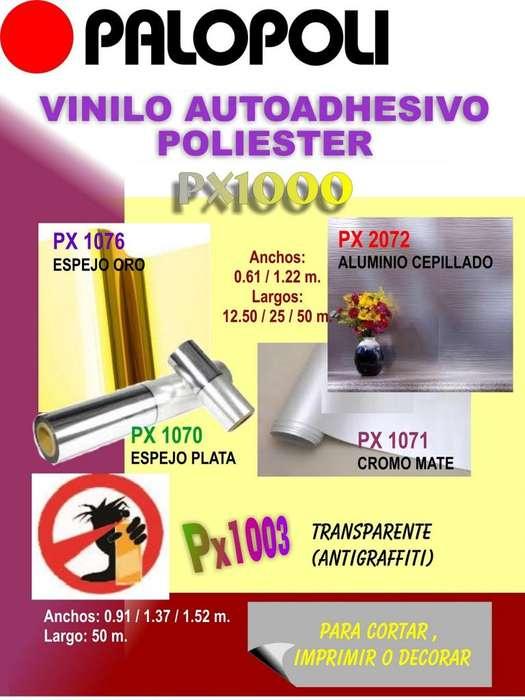 Rollo Vinilo <strong>aluminio</strong> Cepillado u otro PALOPOLI 0.61x12.50m