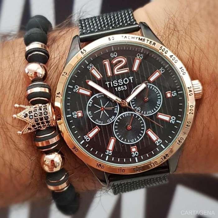 Reloj Tissot cobrizo con negro para hombre en venta