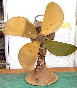 Raro Y Antiguo Ventilador Bronce Diseño Retro Vintage