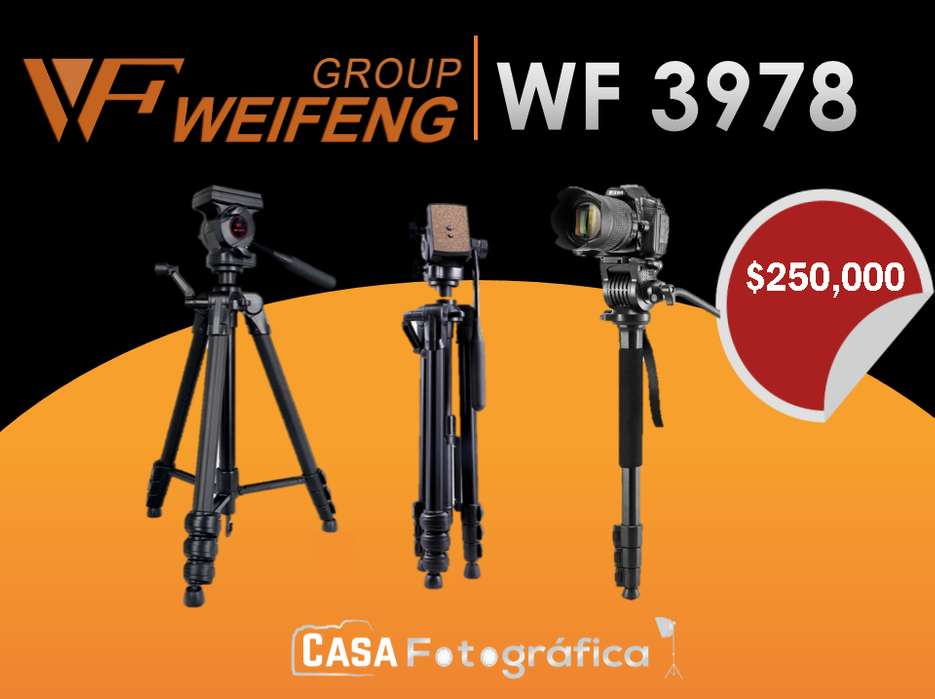 Weifeng trípode 3978 M Cámara Monopod Trípodes de Aluminio Portátil