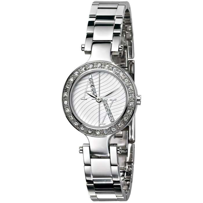 Reloj Armani Mujer Ax3027 Acero Y Strass 50m