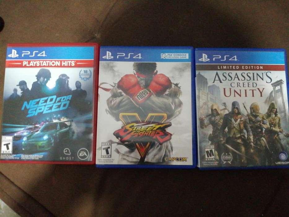 3 videojuegos de PS4 59 soles cada uno