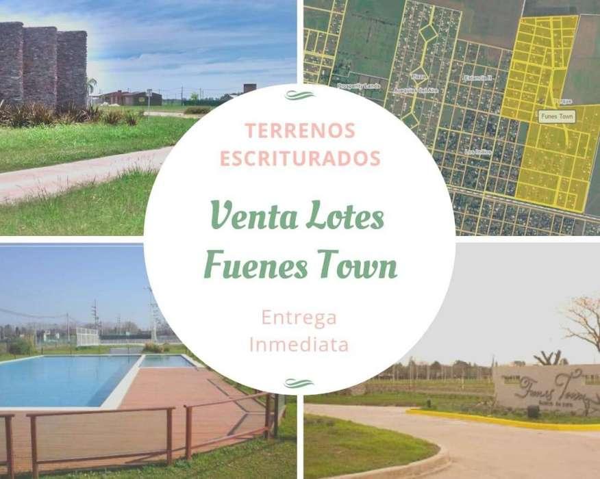 VENTA DE LOTES EN BARRIO ABIERTO FUNES TOWN - ESCRITURADO - ESQUINA