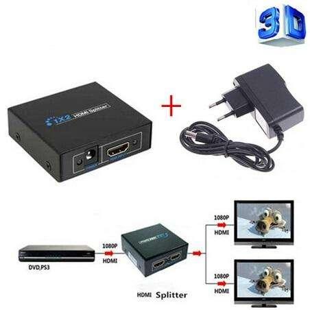 Splitter HDMI 1x2, conecta dos <strong>monitor</strong>es a la vez a una sola salida. La Plata