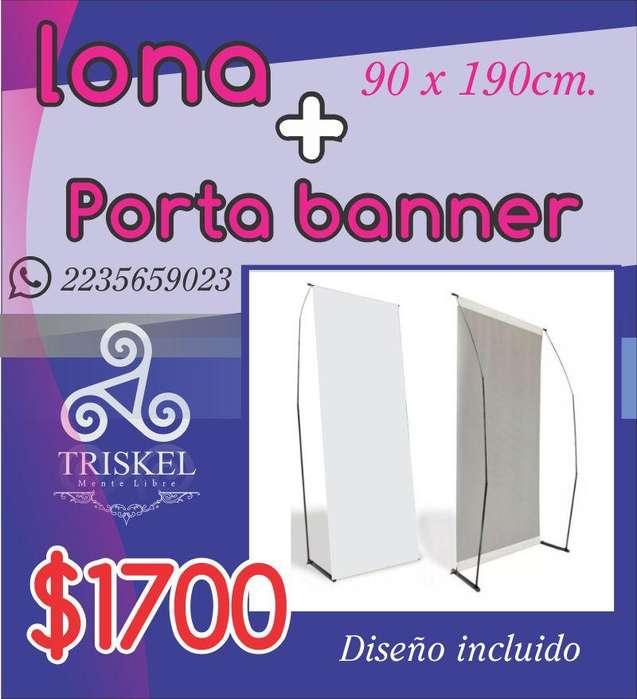 lonas publicitarias y para egresados, promo banner porta banner