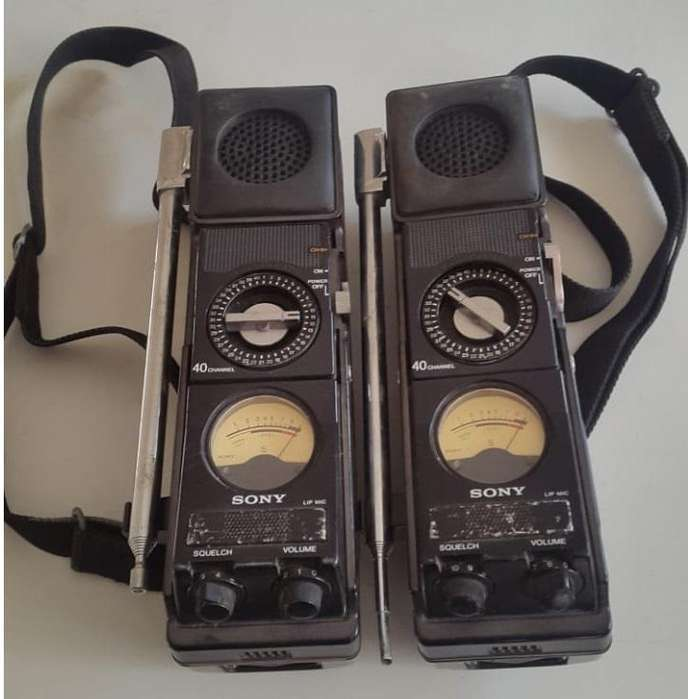 2 RADIOS WALKIES TALKIES <strong>sony</strong> VINTAGE