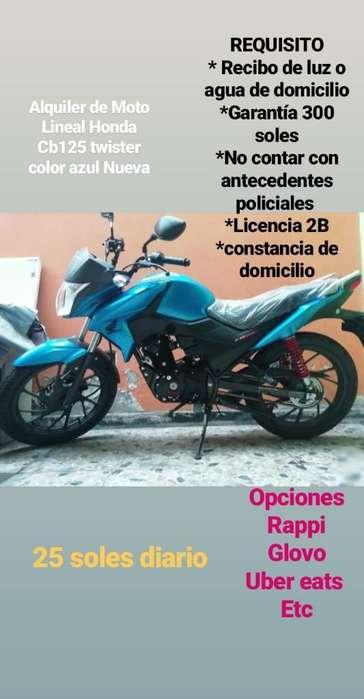Alquiler de Moto Lineal
