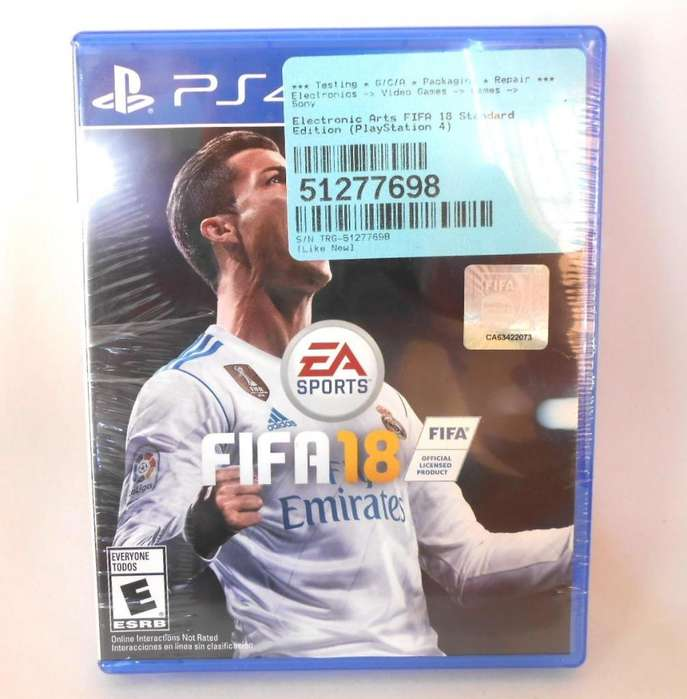 Fifa18 PS4 Playstation4 Juego Fisico Original