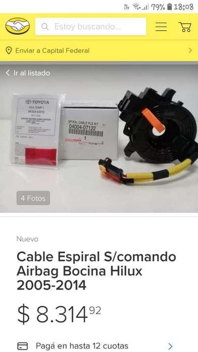 Vcable Espiral Bocina Y Airbag Toyota
