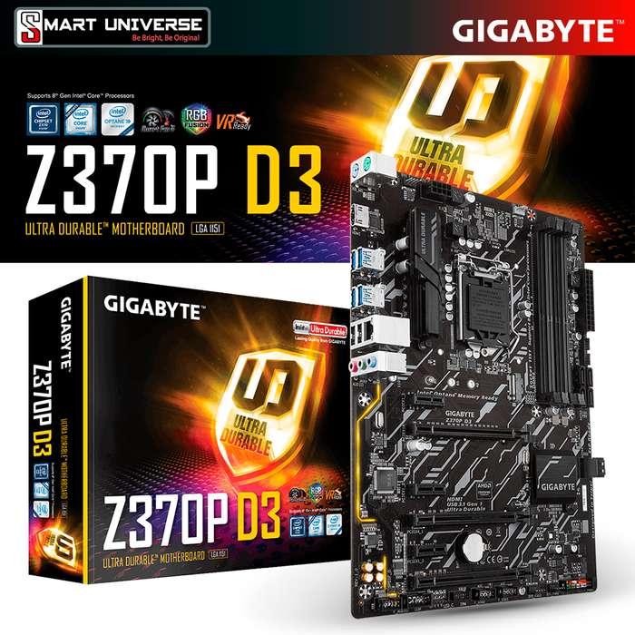 MAINBOARD GIGABYTE Z370P INTEL 8VA GEN. LGA1151 DDR4 VIDEO HDMI/S/L M.2