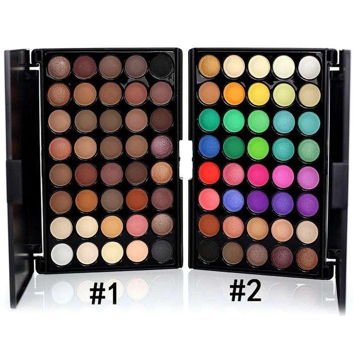 Paleta sombras de ojos x 40 colores - Alta pigmentacion