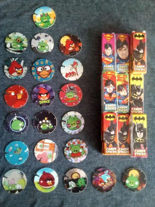 Tazos Angry Bird Y Cajas Marvel