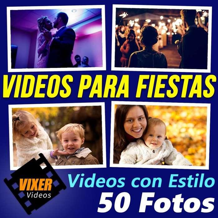 Edicion de Video Clip de Fotos con Musica para Fiestas, Cumpleaños, 15, Primer Añito, Bautismo, Casamientos