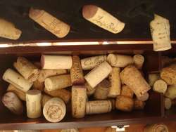 Corchos usados de botellas de vino calidad premiun por 300 unidades