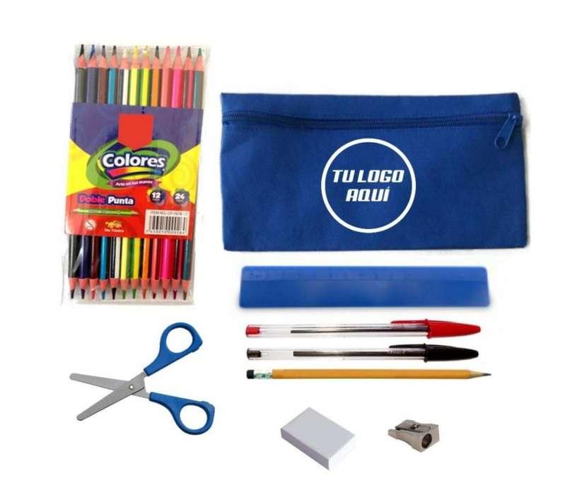 Kit Escolar Cartuchera 1 Incluye Utiles Escolare Fabricamos