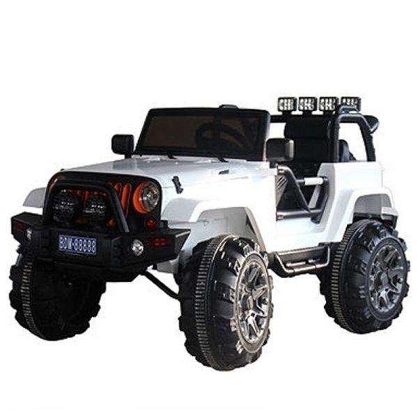 Carro Eléctrico Montable Para Niño - Jeep Renegado Blanco