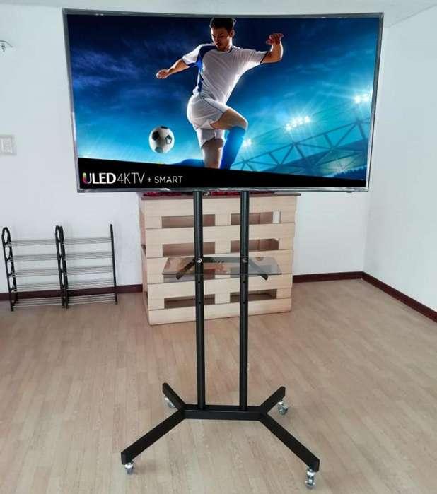 RACK TV PEDESTAL MOVIL 42 A 65 LCD LED CURVO / Telf 997638899