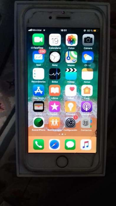 Vendo iPhone 6 de 16Gb Color Gold.