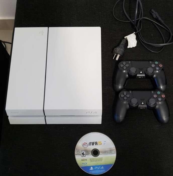 Sony Play Station 4 Ps4 2 Joysticks 5 Juegos