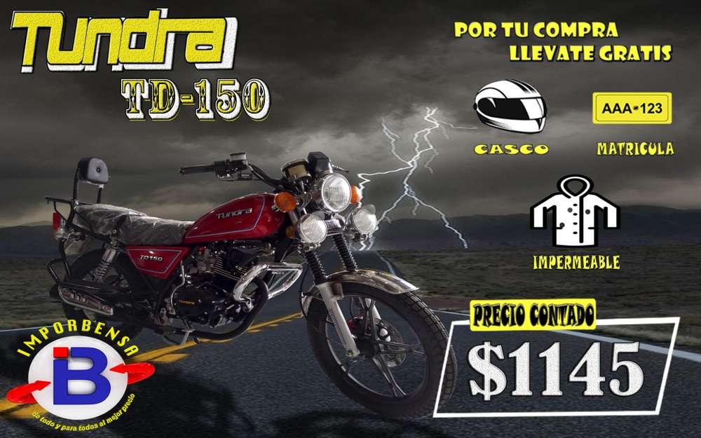 MOTO TUNDRA TD-150-<strong>casco</strong>, MATRICULA, IMPERMEABLE. IMPORTADORA BENAVIDES-SANTO DOMINGO