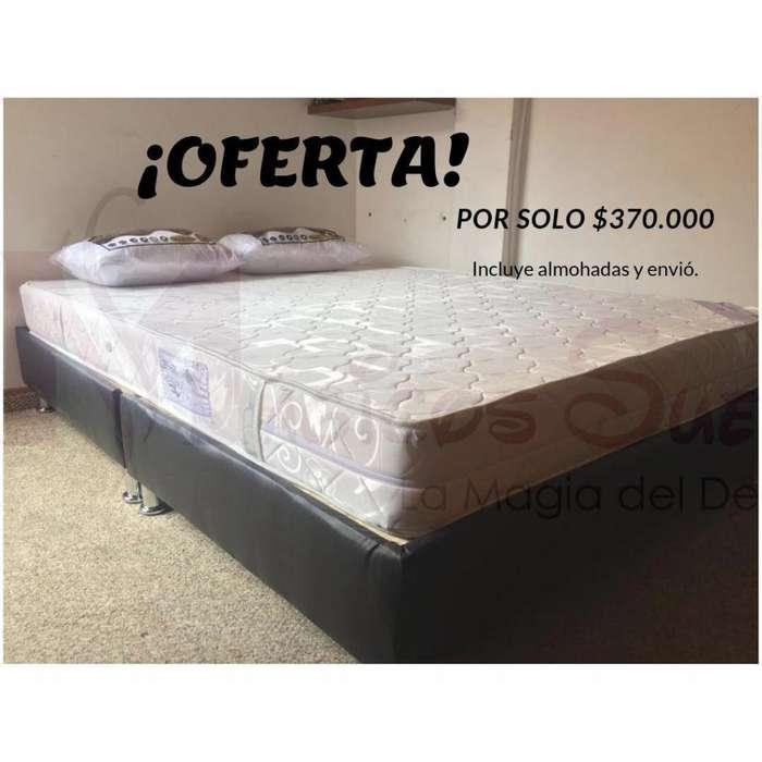 OFERTA COMPLETA por solo 369.000 DOBLE con Almohadas y Envio GARANTIZADO