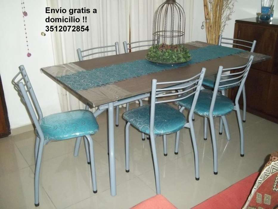 Nuevo !!! Mesa 1.60 y 6 sillas !! Flete gratis !!
