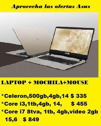 LAPTOP ASUS <strong>mochila</strong>MOUSE 335