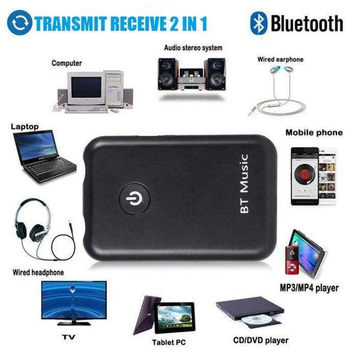 Bluetooth 4.2 Transmisor Y Receptor Recargable Estereo