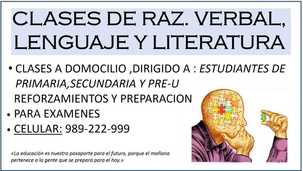 CLASES DE R.V., LENGUAJE Y LITERATURA