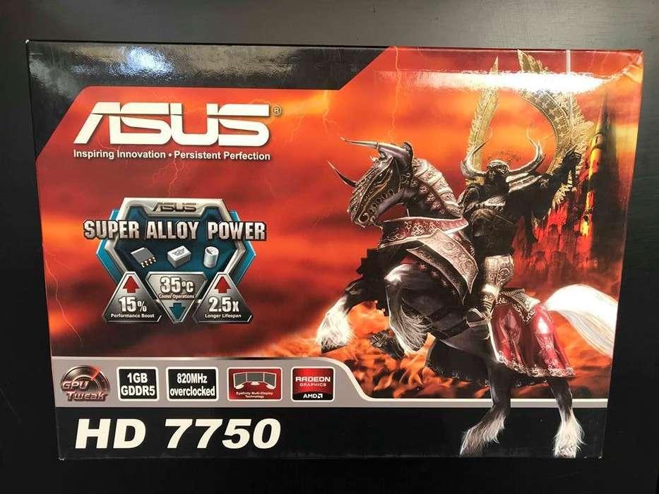 Tarjeta de Video ASUS HD 7750 1GB GDDR5 en perfecto estado