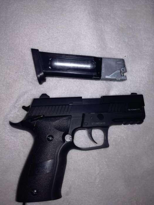Pistola co2 stinger 299 full metal blowback
