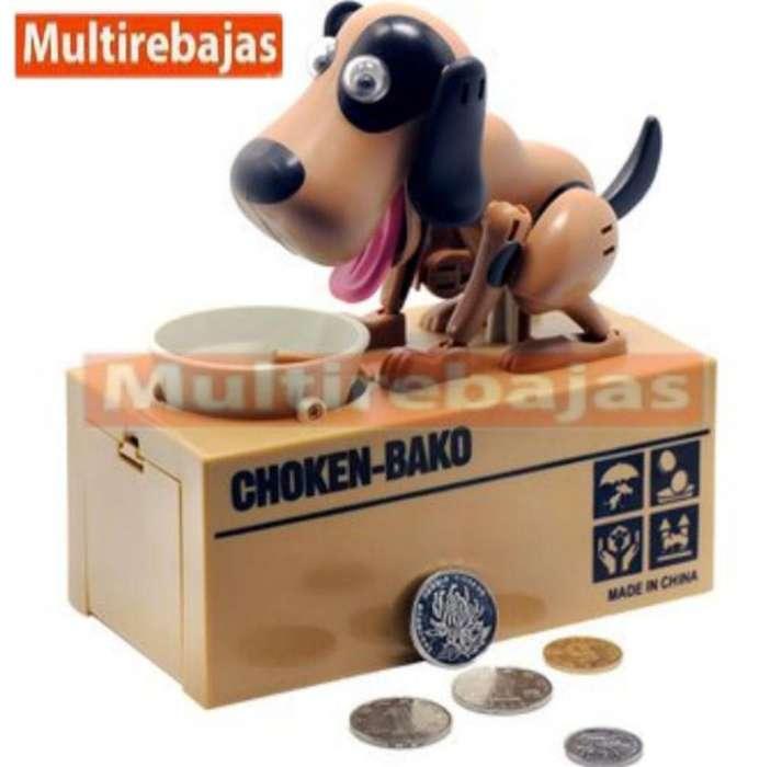 Genial Perro Alcancia Traga Monedas