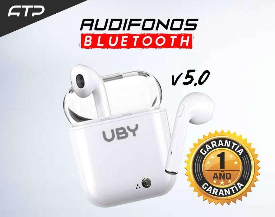 Audífonos Bluetooth I7S TWS Inalámbrico Alta Calidad A1 color blanco
