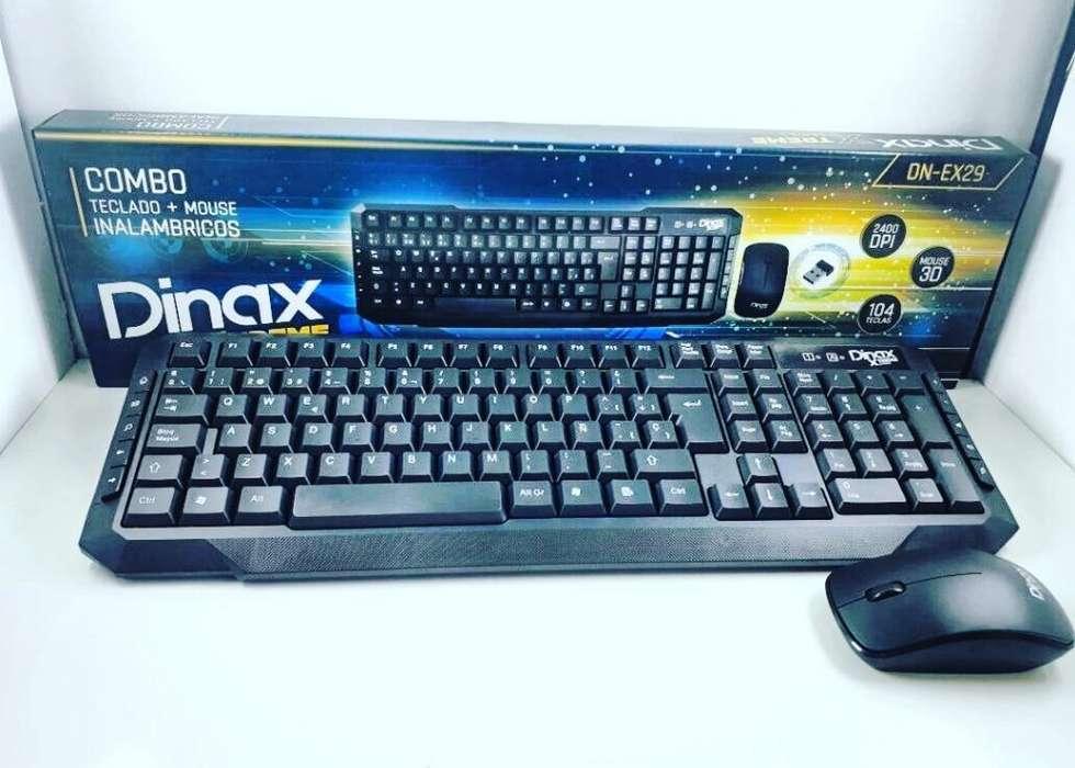 Kit de Teclado T Mouse Inalámbrico Dinax