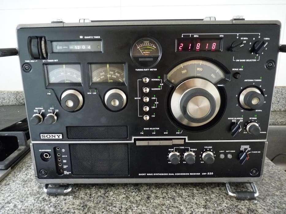 Antigua radio sony crf 320,multibanda radioaficionados